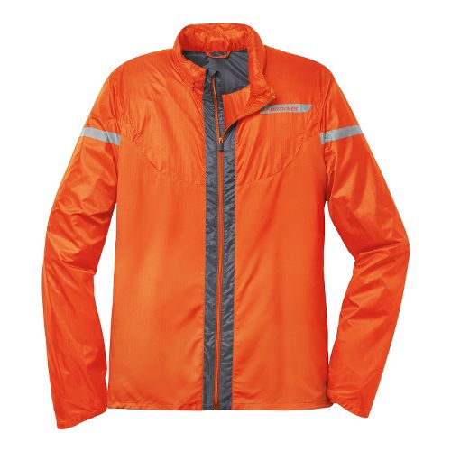 Mens Brooks LSD Lite IV Running Jackets - Brite Orange/Anthracite L