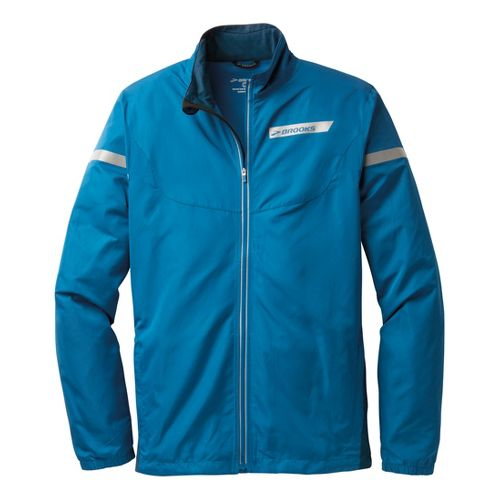 Mens Brooks Essential IV Running Jackets - Baltic/Poseidon S