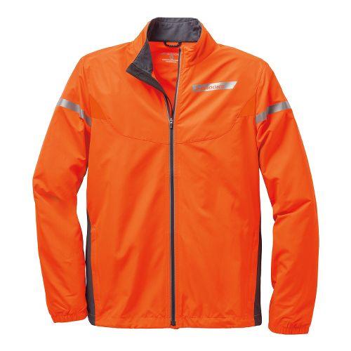 Mens Brooks Essential IV Running Jackets - Brite Orange/Anthracite XL