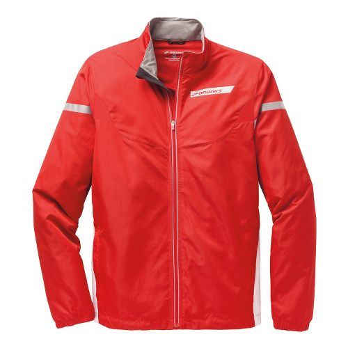 Mens Brooks Essential IV Running Jackets - Mars/White M