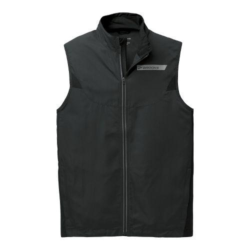 Mens Brooks Essential Vest IV Running Vests - Black XL