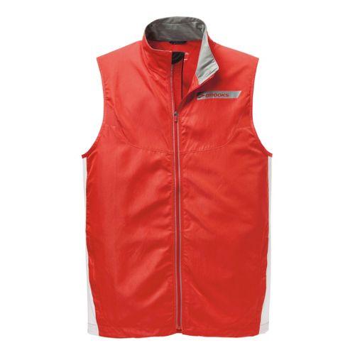 Mens Brooks Essential Vest IV Running Vests - Mars/White L