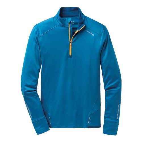 Mens Brooks Infiniti 1/2 Zip II Technical Tops - Baltic/Poseidon L