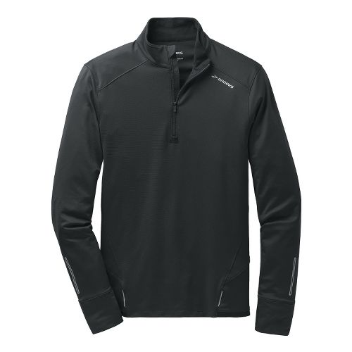 Mens Brooks Infiniti 1/2 Zip II Technical Tops - Black S