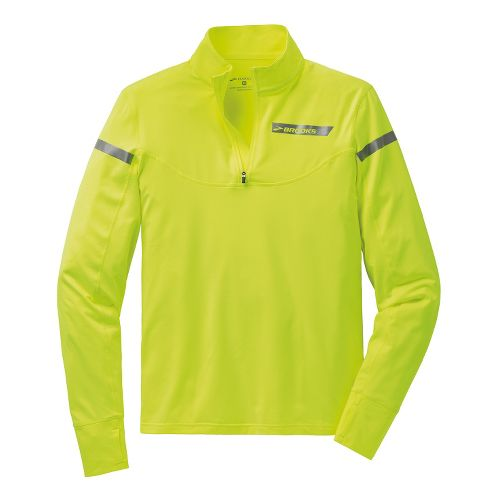 Mens Brooks Essential III Long Sleeve 1/2 Zip Technical Tops - Nightlife S