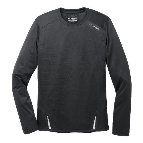 Mens Brooks Infiniti Long Sleeve No Zip Technical Tops - Black L