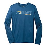 Mens Brooks EZ T III Brooks 1914 Long Sleeve No Zip Technical Tops