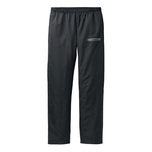 Mens Brooks Essential Wind II Full Length Pants - Black XL