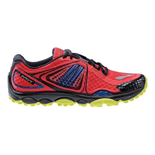 Mens Brooks PureGrit 3 Trail Running Shoe - Red 8.5