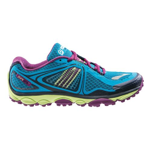 Womens Brooks PureGrit 3 Trail Running Shoe - Blue Jewel 5