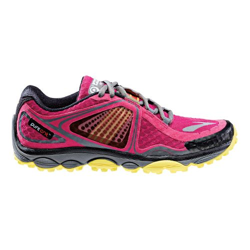 Womens Brooks PureGrit 3 Trail Running Shoe - Berry 10.5