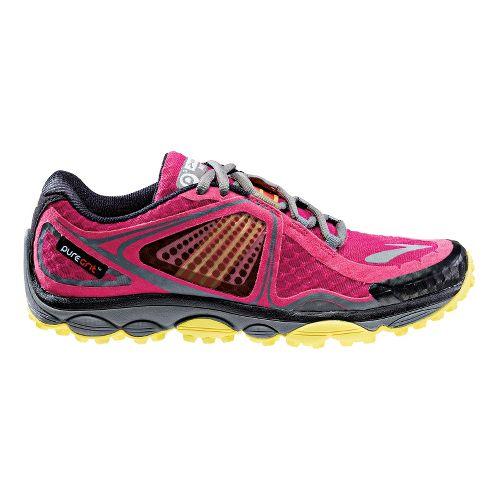 Womens Brooks PureGrit 3 Trail Running Shoe - Berry 7