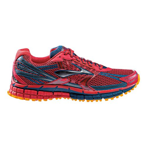 Mens Brooks Adrenaline ASR 11 Trail Running Shoe - Red 10.5