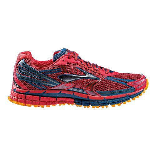 Mens Brooks Adrenaline ASR 11 Trail Running Shoe - Red 8.5