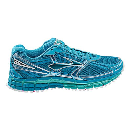 Womens Brooks Adrenaline ASR 11 Trail Running Shoe - Blue/Green 10