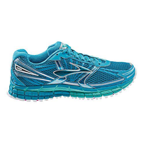 Womens Brooks Adrenaline ASR 11 Trail Running Shoe - Blue/Green 7