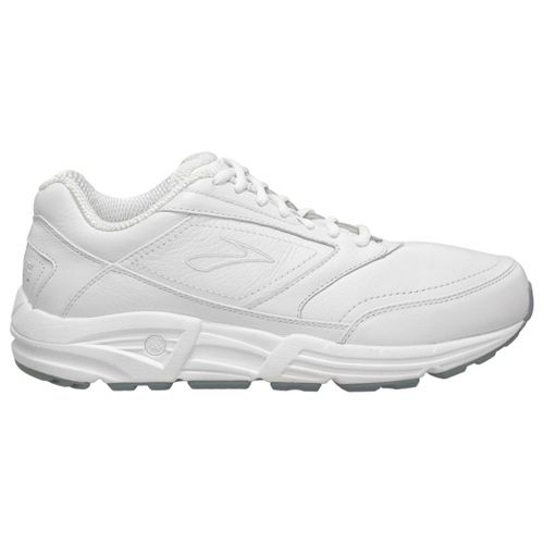 Mens Brooks Addiction Walker Walking Shoe - White 8