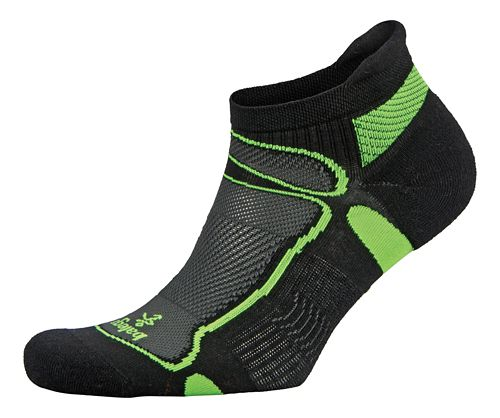 Balega Ultra Light No Show Socks - White/Neon Yellow M