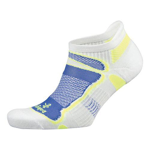 Balega Ultra Light No Show Socks - White/Royal L