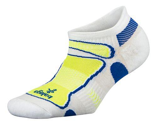 Balega Ultra Light No Show Socks - White/Neon Yellow L