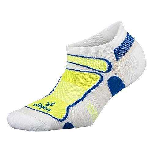 Balega Ultra Light No Show Socks - White/Neon Yellow S
