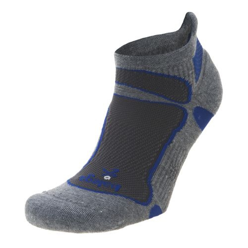 Balega Ultra Light No Show Socks - Grey/Royal M