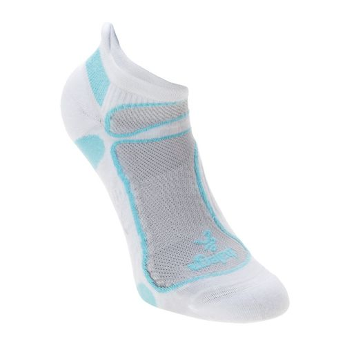 Balega Ultra Light No Show Socks - White/Aqua M