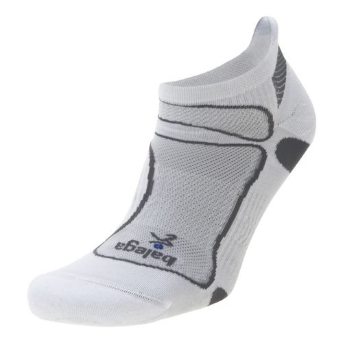 Balega Ultra Light No Show Socks - White/Grey M