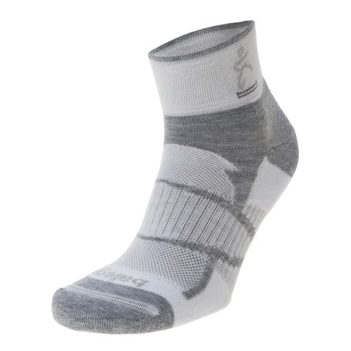 Balega Enduro 2 Quarter Socks - White/Grey M
