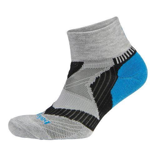 Balega Enduro V-tech Quarter Socks - Grey/Turquoise M