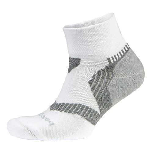Balega Enduro V-tech Quarter Socks - White/Grey L