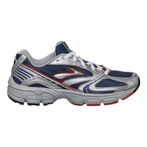 Kids Brooks Ghost Running Shoe - Blue/Silver 1.5