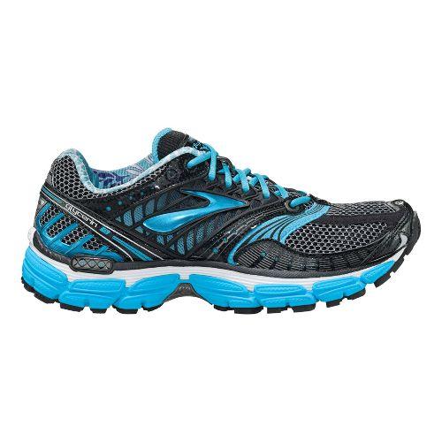 Womens Brooks Glycerin 9 Running Shoe - Black/Blue 7.5