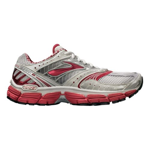 Womens Brooks Glycerin 9 Running Shoe - Silver/Red 7