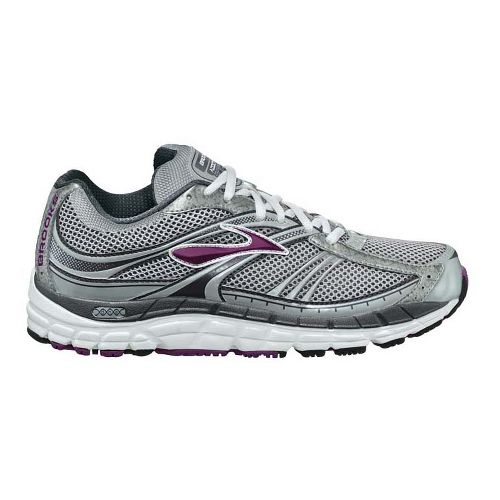 Womens Brooks Addiction 10 Running Shoe - Silver/Plum 11.5