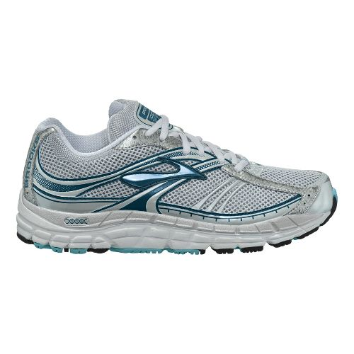 Womens Brooks Addiction 10 Running Shoe - White/Light Blue 6.5