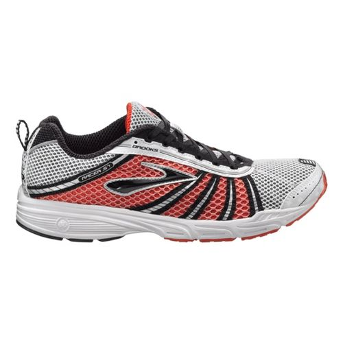 Brooks Racer ST 5 Running Shoe - White/Red 6.5