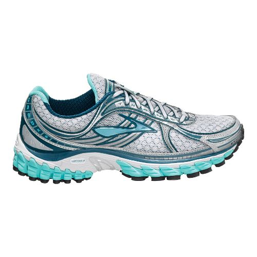 Womens Brooks Trance 11 Running Shoe - White/Aqua 9
