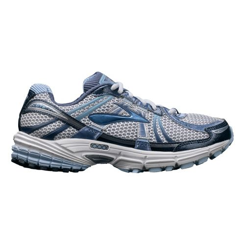 Womens Brooks Adrenaline GTS 12 Running Shoe - White/Blue 7.5