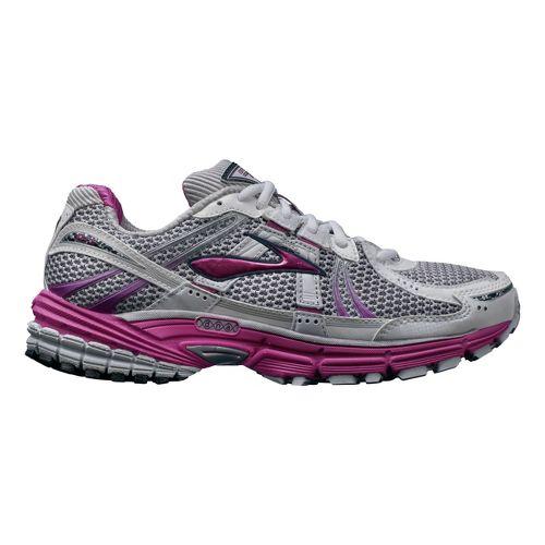 Womens Brooks Adrenaline GTS 12 Running Shoe - White/Pink 7.5