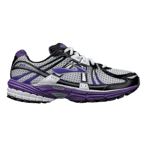 Womens Brooks Adrenaline GTS 12 Running Shoe - White/Purple 10.5