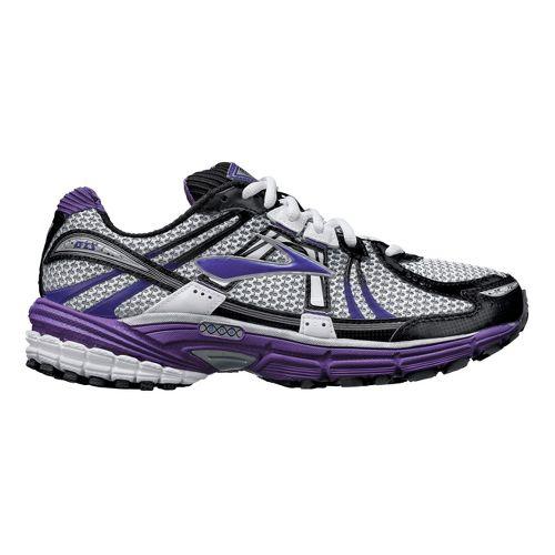 Womens Brooks Adrenaline GTS 12 Running Shoe - White/Purple 8.5