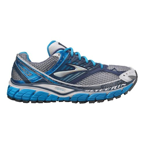 Womens Brooks Glycerin 10 Running Shoe - Blue/White 7.5