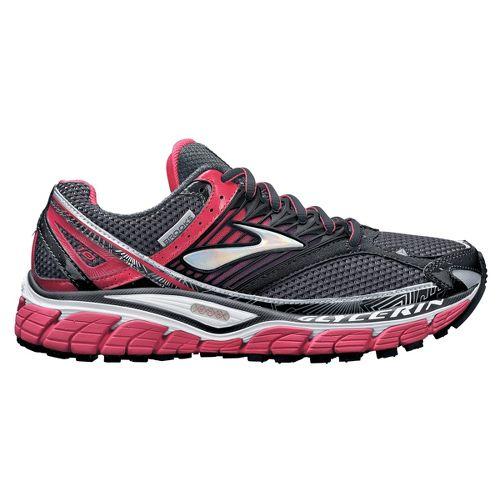 Womens Brooks Glycerin 10 Running Shoe - Grey/Pink 7