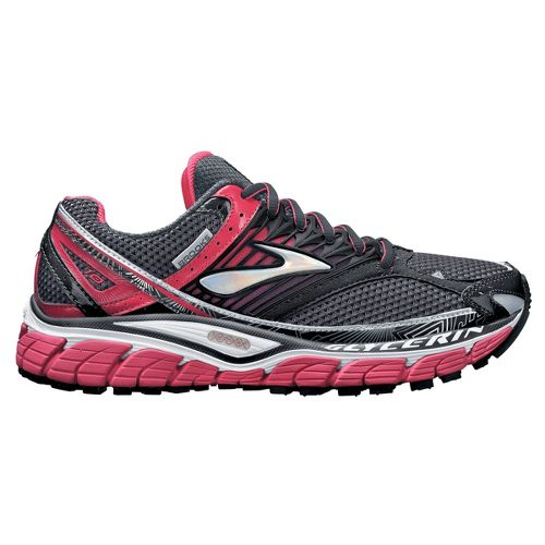 Womens Brooks Glycerin 10 Running Shoe - Grey/Pink 9