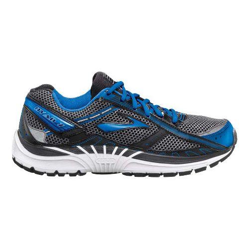Mens Brooks Dyad 7 Running Shoe - Black/Blue 10.5
