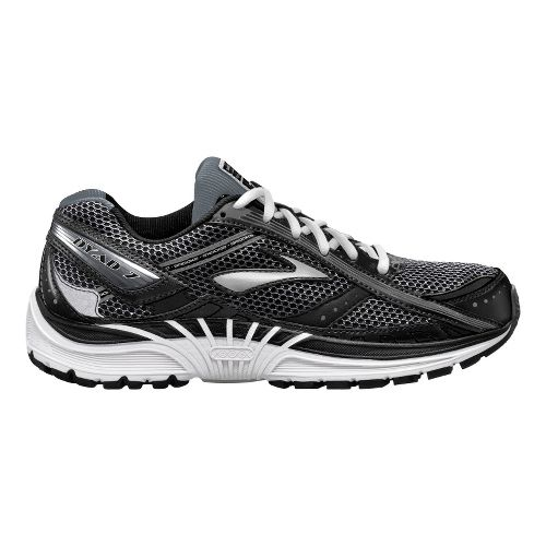 Mens Brooks Dyad 7 Running Shoe - Black/Silver 12.5