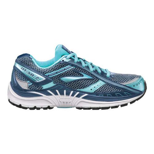 Womens Brooks Dyad 7 Running Shoe - Blue/Light Blue 9