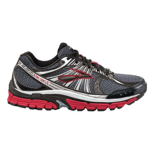 Mens Brooks Beast 12 Running Shoe - Grey/Red 8.5