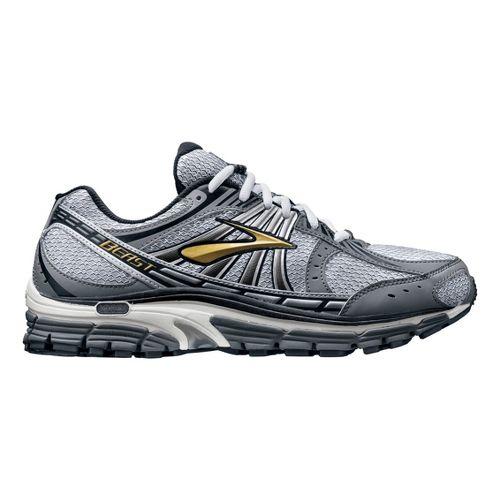Mens Brooks Beast 12 Running Shoe - Silver/Black 11.5